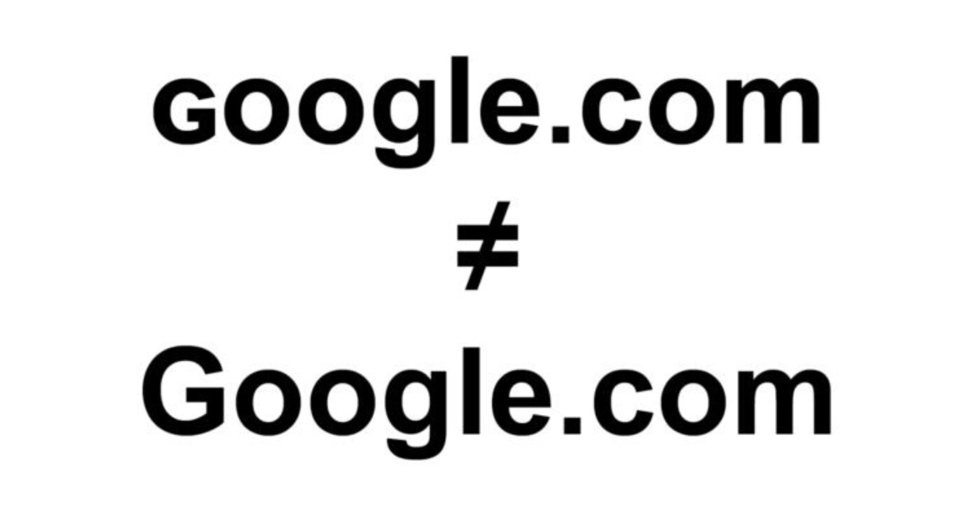Someone is using a domain name very similar to google.com to trick you.